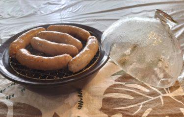 手作りソーセージをキッチンでお手軽に燻製♪